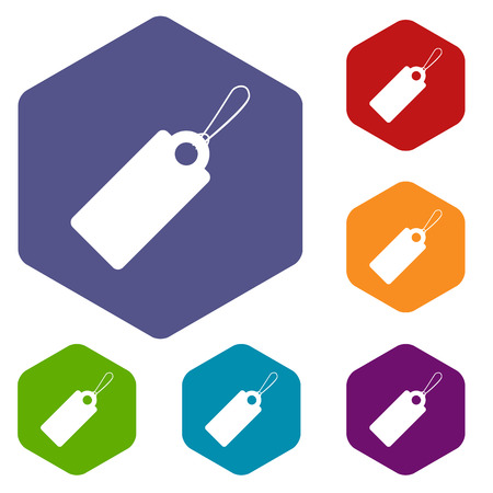 eshop: Price tag rhombus icons Illustration