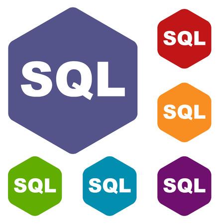 sql: SQL rhombus icons