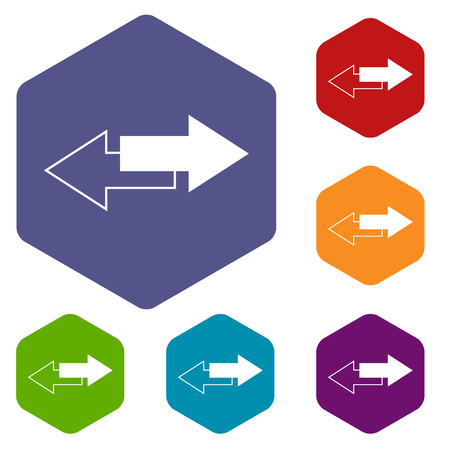 reverse: Reverse rhombus icons Illustration