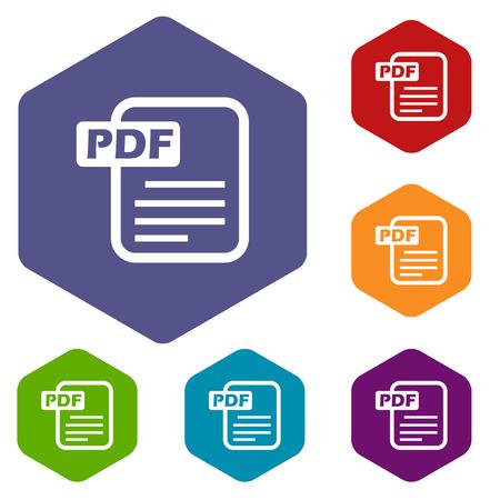 pdf: Pdf rhombus icons