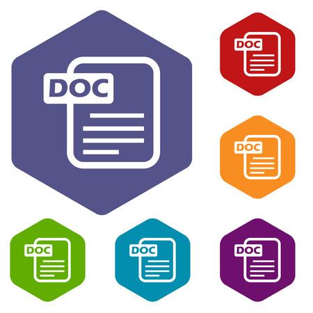 Doc rhombus icons Illustration