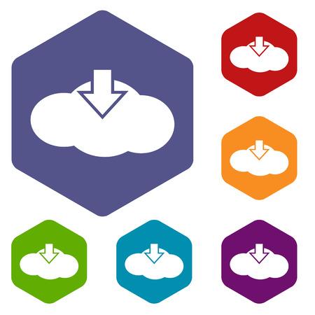 Download cloud rhombus icons Vector