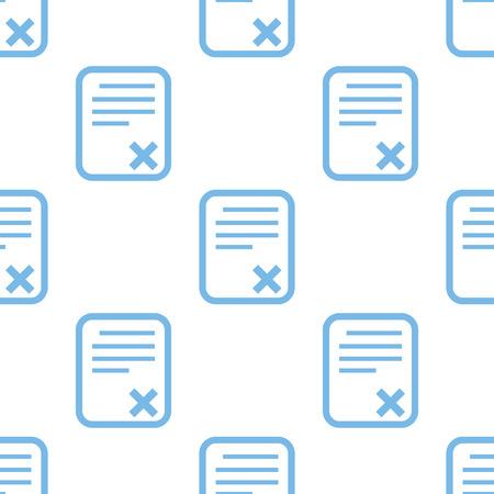 adopting: Bad document seamless pattern Illustration