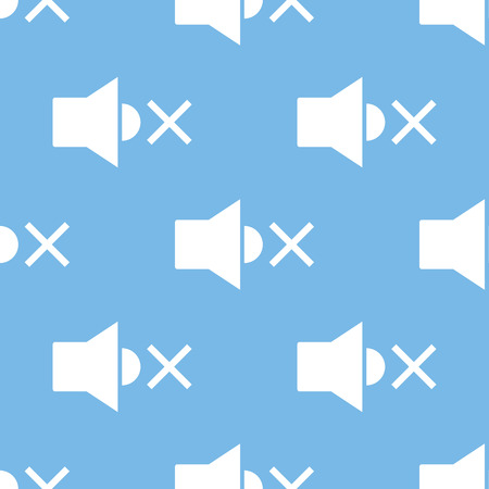 disconnection: No sound seamless pattern Illustration
