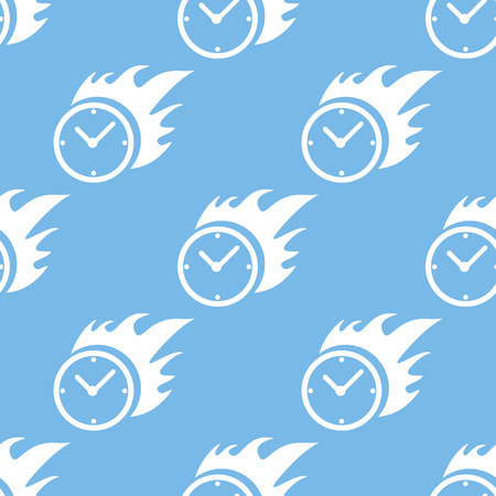 Hot clock seamless pattern Vector