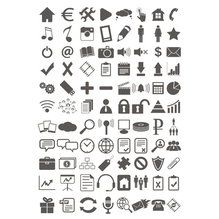 Webdesign flat icons set Vector