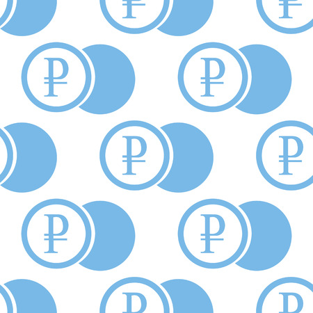 rouble: Rouble coin seamless pattern