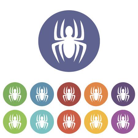 vulnerability: Spider flat icon Illustration