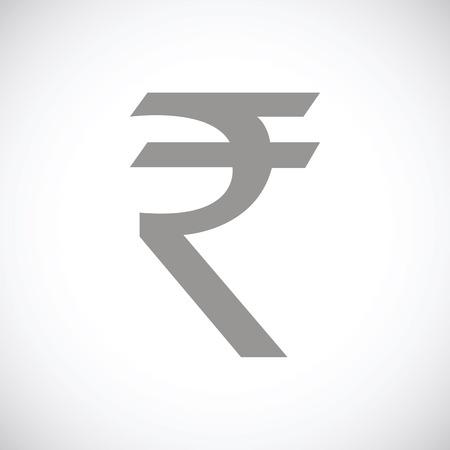 rupee: Rupee black icon Illustration