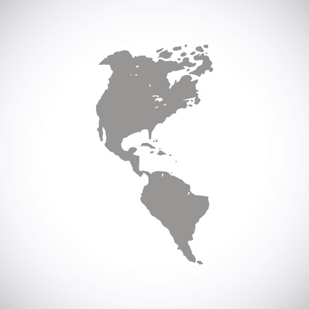 kontinentální: Continental Americas černá ikona