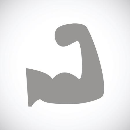 Strength black icon Illustration