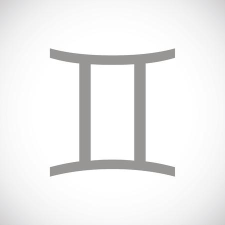 gemini: Gemini black icon Illustration