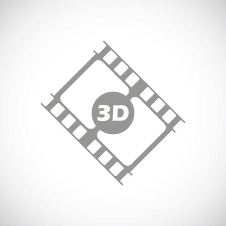 3d film: 3d film black icon