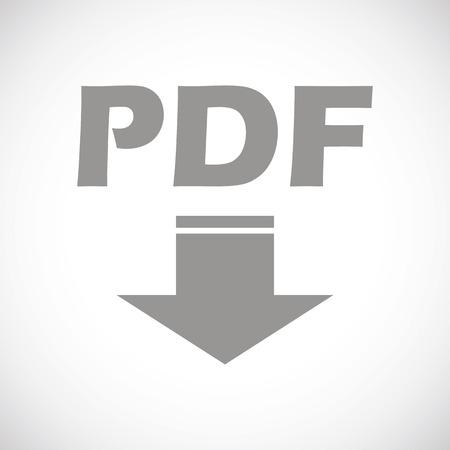 pdf: Pdf black icon