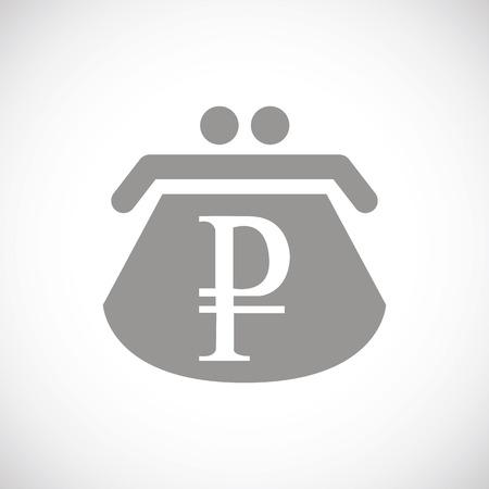 rouble: Rouble black icon