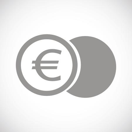 euro: Euro coin black icon Illustration