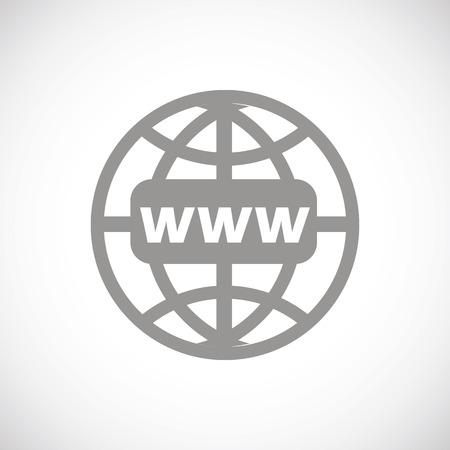 Www icône noire Banque d'images - 37921972
