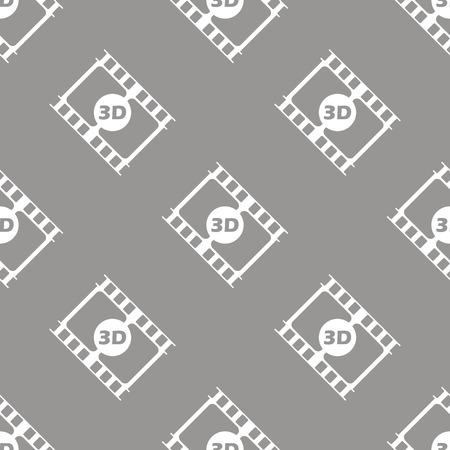 3d film: 3d film seamless pattern Illustration
