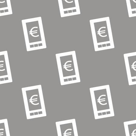 euro: Euro phone seamless pattern