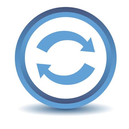 synchronization: Blue synchronization icon