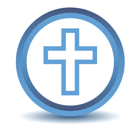 protestant: Blue Protestant Cross icon Illustration