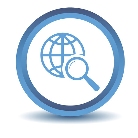 icons site search: Blue World scan icon