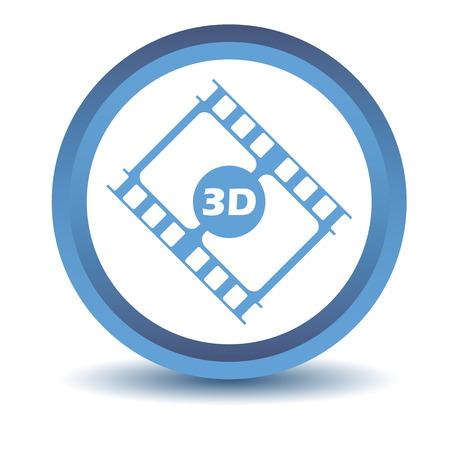 3d film: Blue 3d film icon