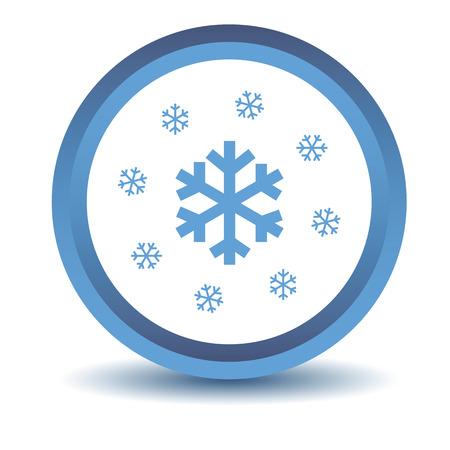 Blauwe icoon Sneeuw Stockfoto - 38123934