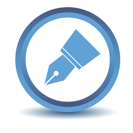 blue pen: Blue Pen icon