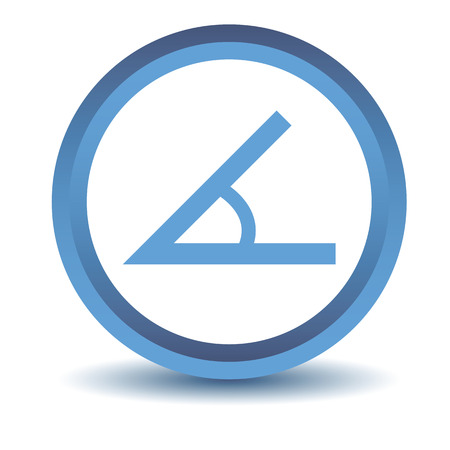 angle: Blue Sign of the angle icon Illustration