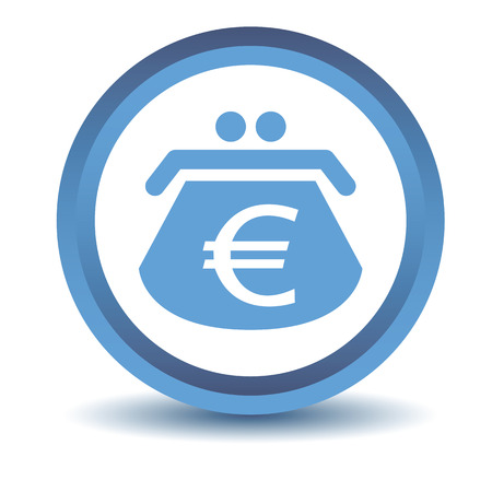 purse: Blue euro purse icon