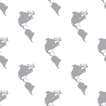 menu land: New Continental Americas seamless pattern