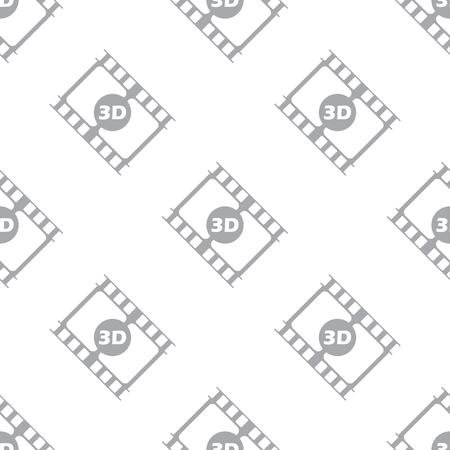 3d film: New 3d film seamless pattern