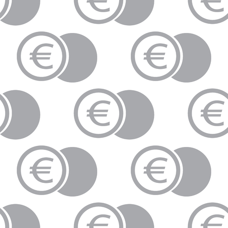 euro coin: New Euro coin seamless pattern