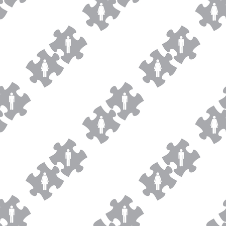 new love: New Love puzzle seamless pattern