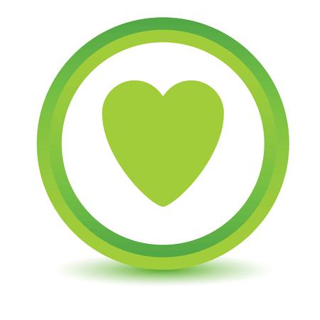 Vert icône de coeur Banque d'images - 38320289
