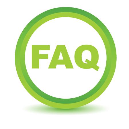 faq icon: Icono faq Verde