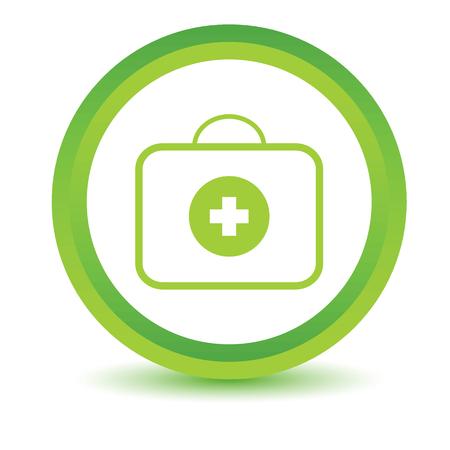 Grüne Tasche Arzt Symbol