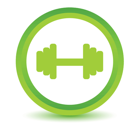 Green dumbbell icon