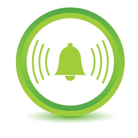 alarmclock: Green alarmclock icon Illustration
