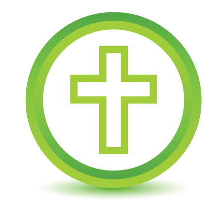 protestant: Green Protestant Cross icon Illustration