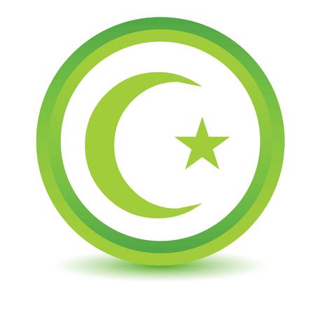 cult: Green color Islam icon Illustration