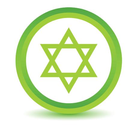 judaism: Green color  Judaism icon Illustration