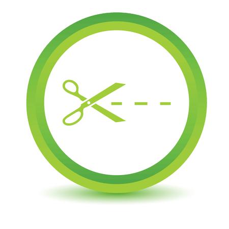maim: Green Cut icon Illustration