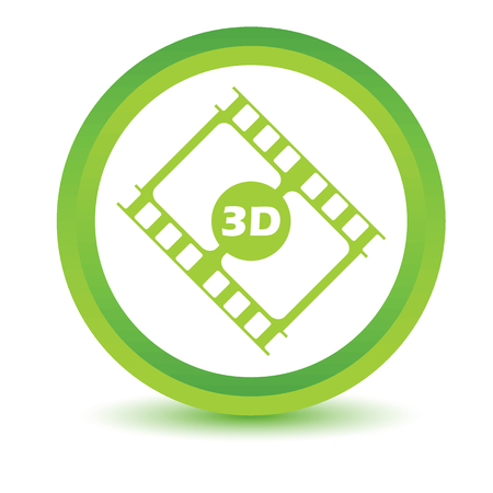 3d film: Green 3d film icon Illustration