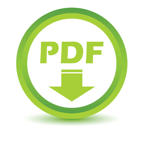 pdf: Green Pdf icon Illustration