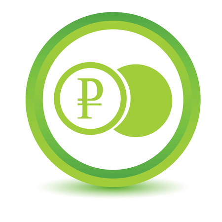 rouble: Green rouble coin icon