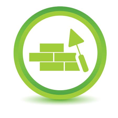 bioedilizia: Icona verde Costruzione Vettoriali
