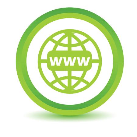 www icon: Green Www icon