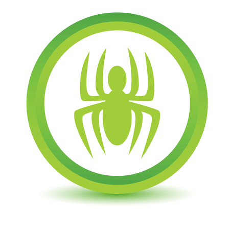 vulnerability: Green Spider icon Illustration
